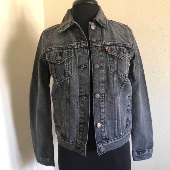 299450049 BLACK Women/'s LEVI/'S Original Trucker Jacket
